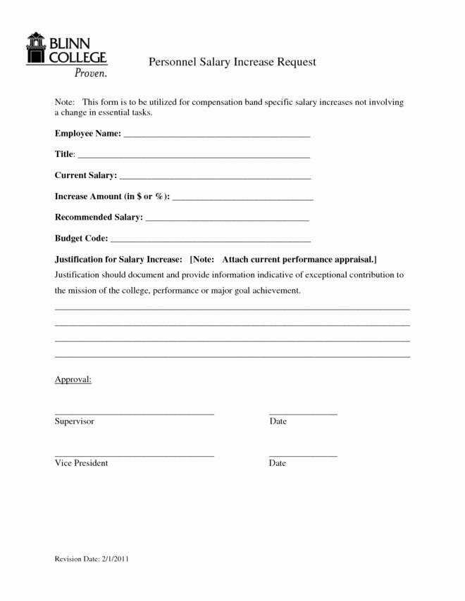 Employee Raise form Luxury Printable Faculty Salary Adjustment Pay form by Stariya