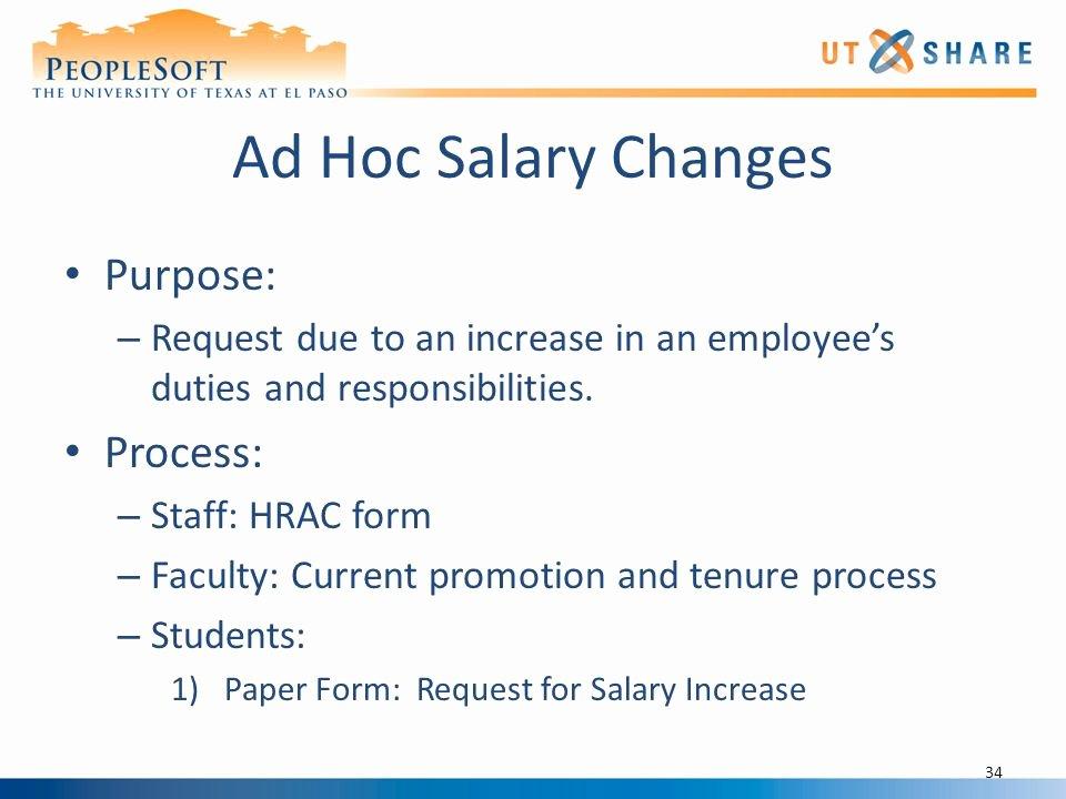 Employee Raise form New Position Management Hr Processes Ppt Video Online