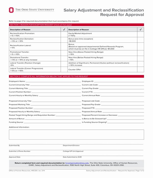 Employee Raise form Unique 7 Employee Pay Increase form