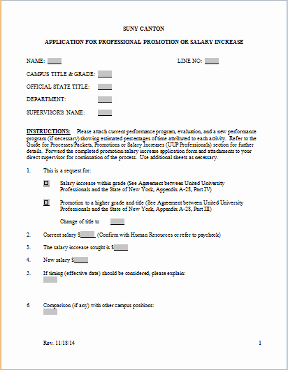 Employee Raise form Unique 7 Free Salary Increase Templates Excel Pdf formats