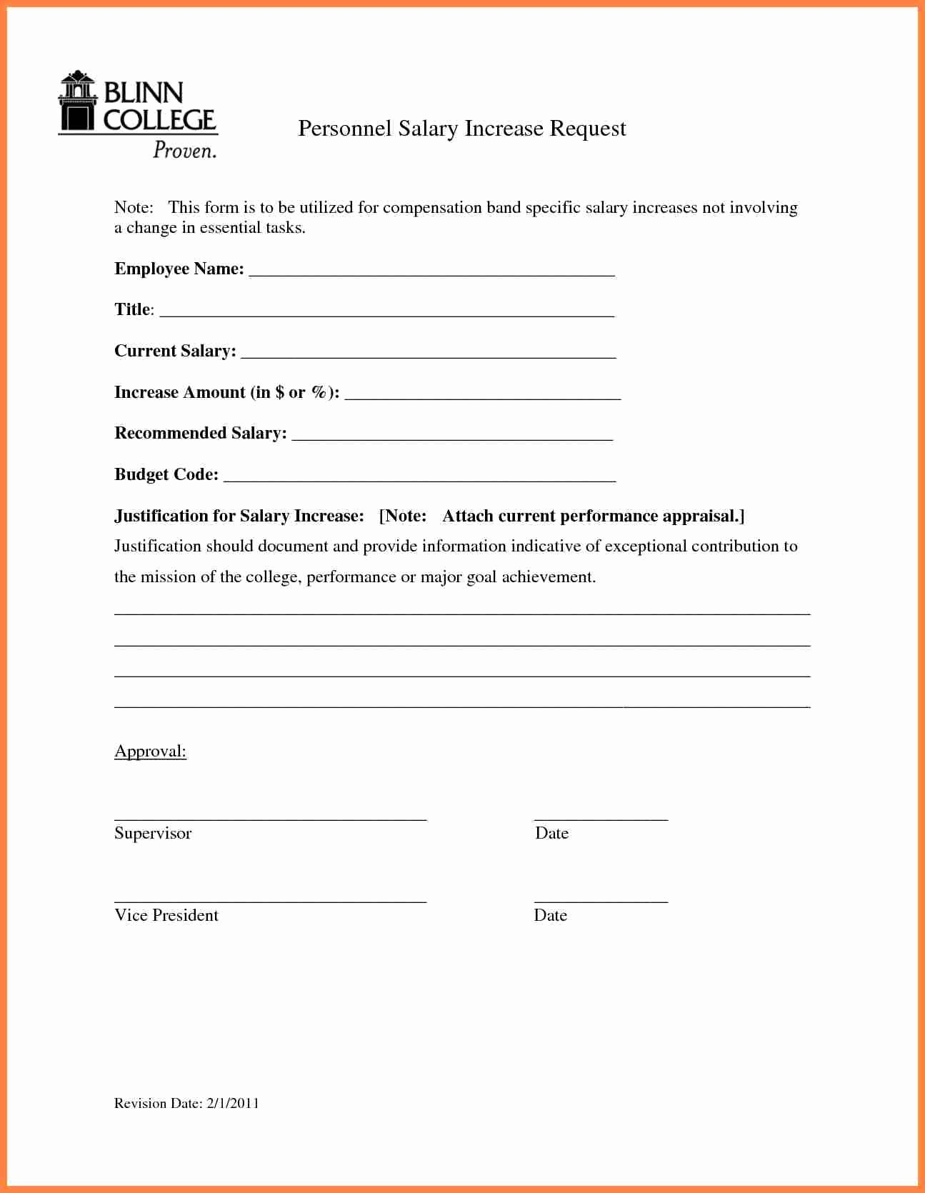 Employee Raise form Unique 7 Salary Review Template