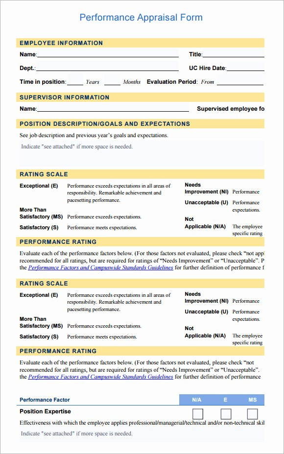Employee Raise form Unique Employee Evaluation form Sample – 10 Free Examples format