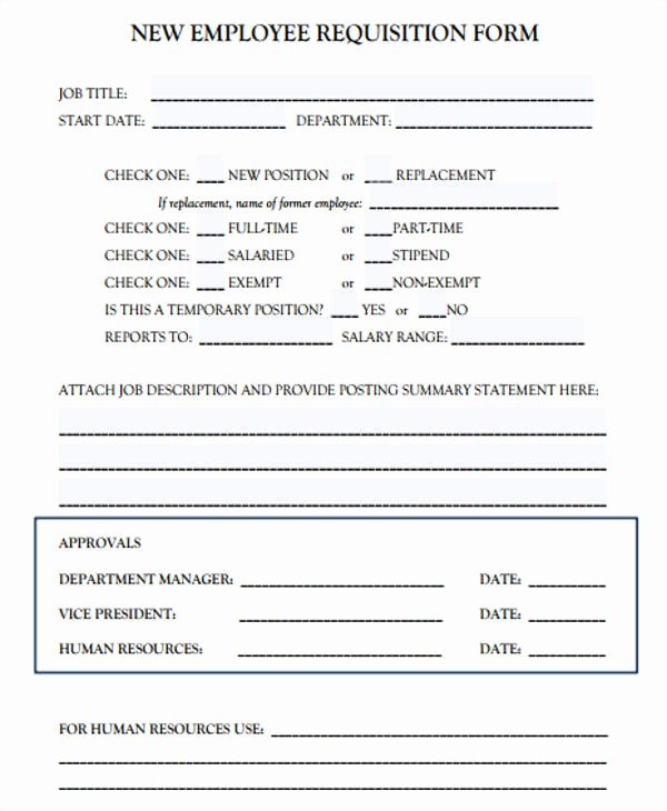 Employee Requisition form Awesome Job Requisition form Sample 10 Free Documents In Word Pdf