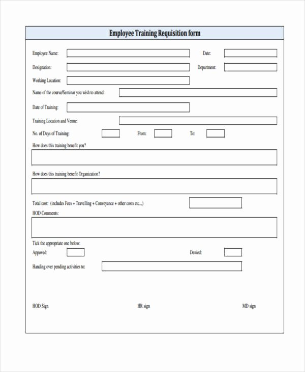 Employee Requisition form Awesome Sample Requisition forms