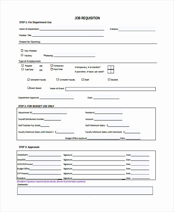 Employee Requisition form Sample Awesome Job Requisition Template Excel Five Things You Didn T Know