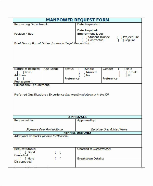 Employee Requisition form Sample Inspirational 32 Requisition forms In Doc
