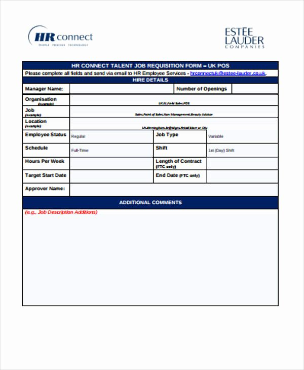Employee Requisition form Template Elegant 43 Free Requisition forms