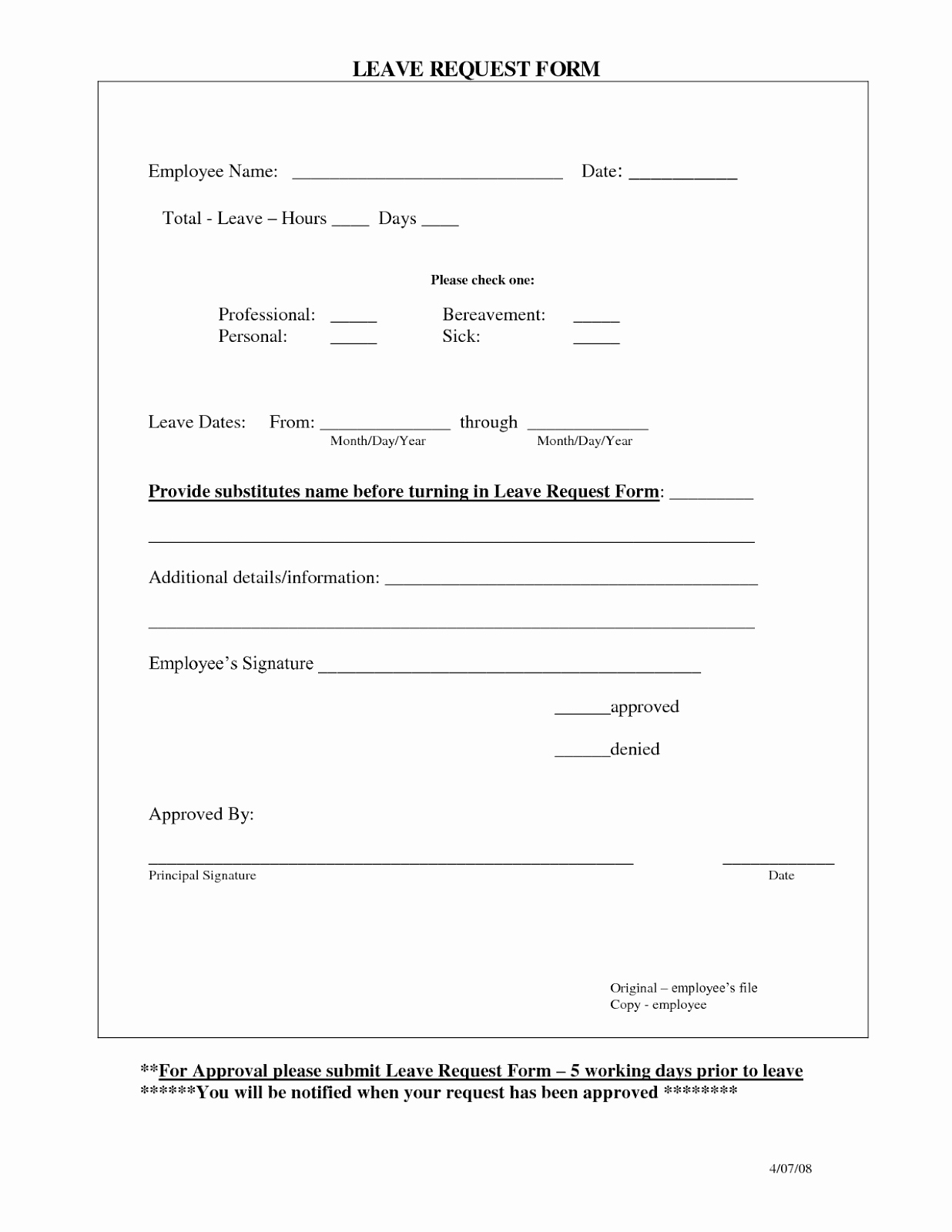 Employee Requisition form Template Unique Employee Time Off Request From Template Excel Template