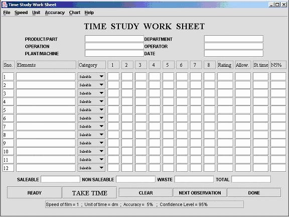 Employee Time Study Template Awesome Time Study Template