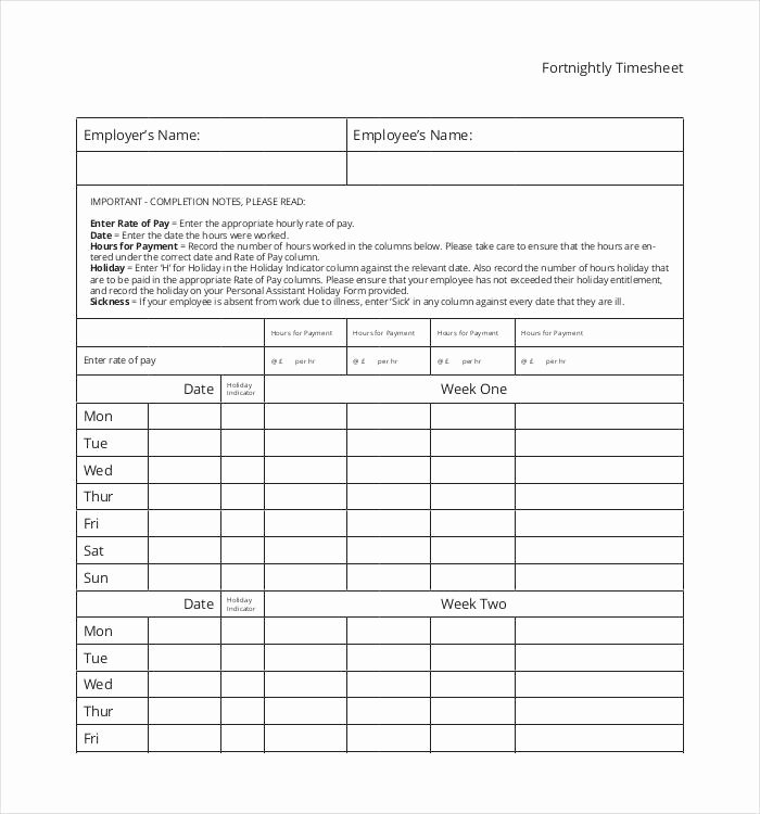 Employee Time Study Template Unique 60 Sample Timesheet Templates Pdf Doc Excel