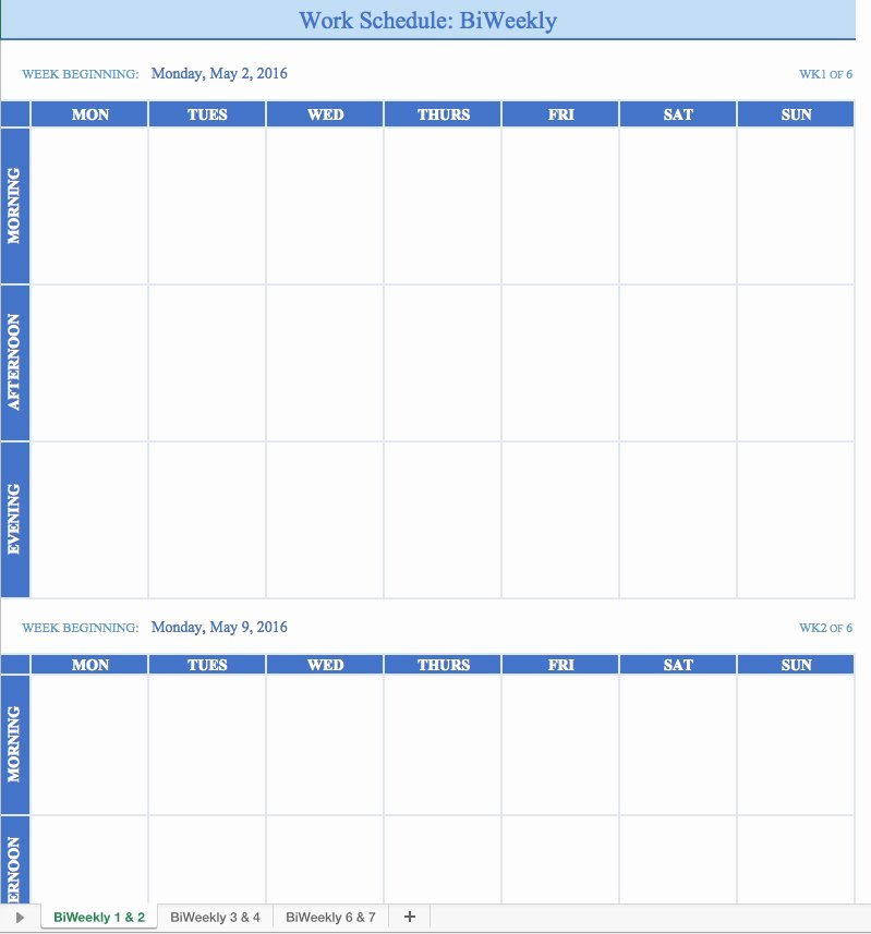 Employee Weekly Schedule Template Free Awesome Free Work Schedule Templates for Word and Excel