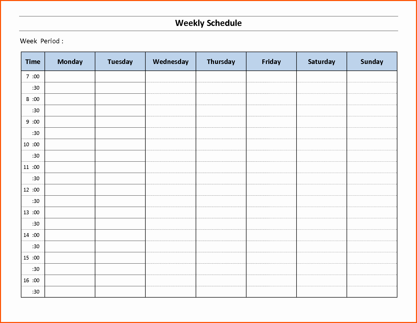 Employee Weekly Schedule Template Free Fresh 14 Free Weekly Schedule Template