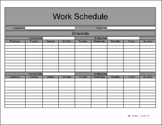 Employee Weekly Schedule Template Free Lovely Employee Bi Weekly Timesheet Template Templates Resume