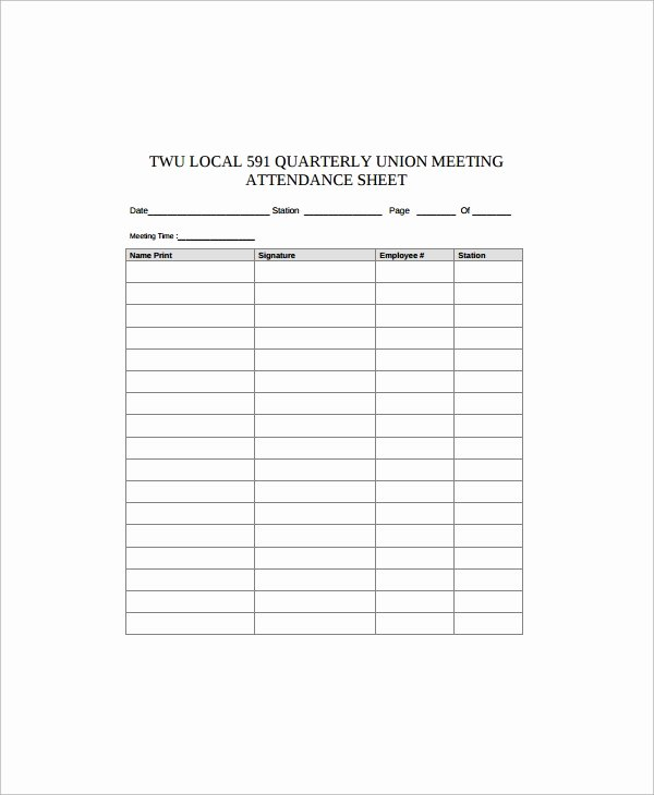Employees Sign In Sheet Inspirational Sample Employee Sign In Sheet 15 Free Documents