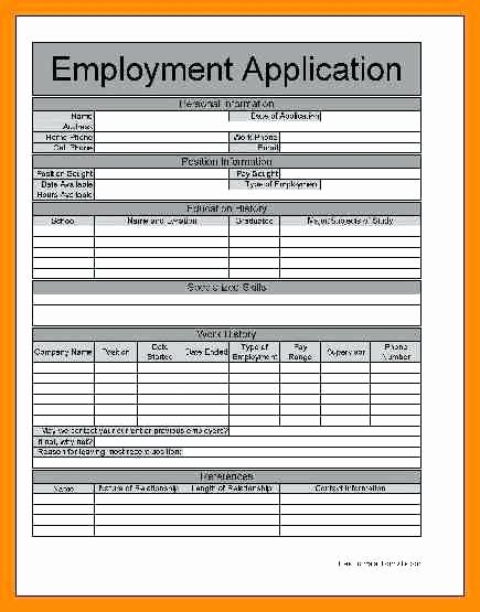 Employment Applications Printable Template Awesome Generic Job Application form – Syncla