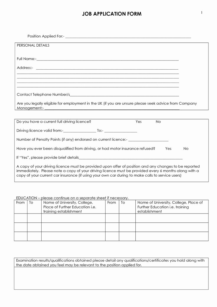 Employment Applications Printable Template New Best 25 Printable Job Applications Ideas On Pinterest