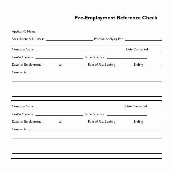 Employment Reference Request form Elegant 15 Reference Check Templates to Download for Free