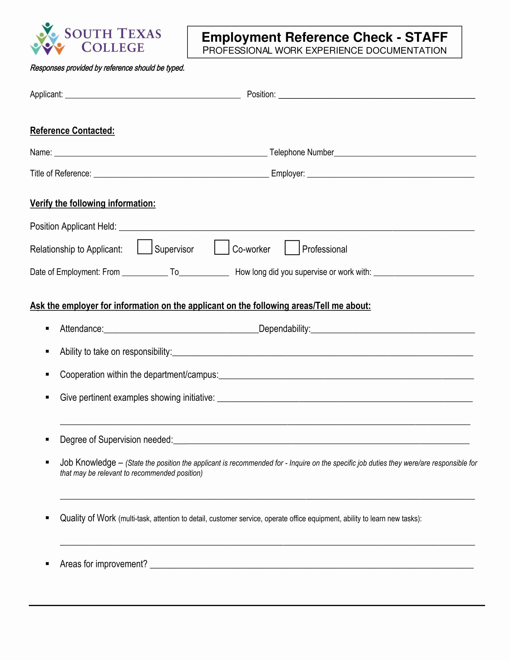 Employment Reference Request form Lovely 14 Reference Check forms Free Pdf format Download