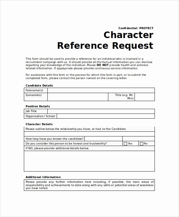 Employment Reference Request form Lovely Sample Reference Request form 10 Examples In Word Pdf
