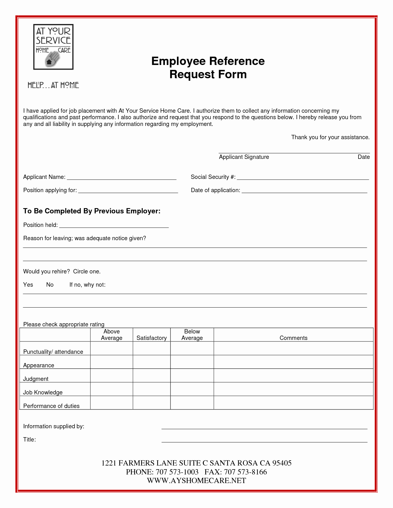 Employment Reference Request form Luxury Other Template Category Page 48 Urlspark