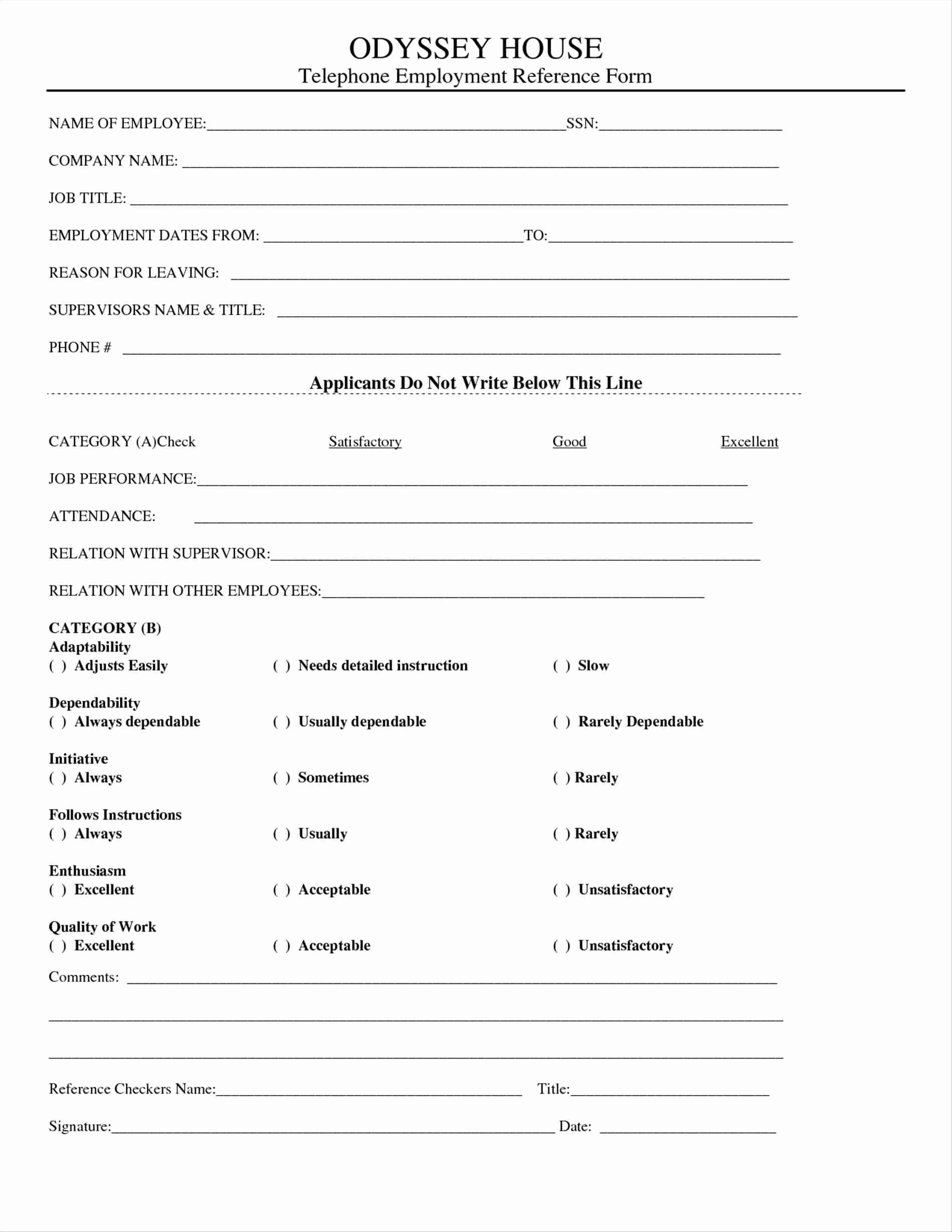 Employment Reference Request form New Employment Reference form Template Pics – Employment