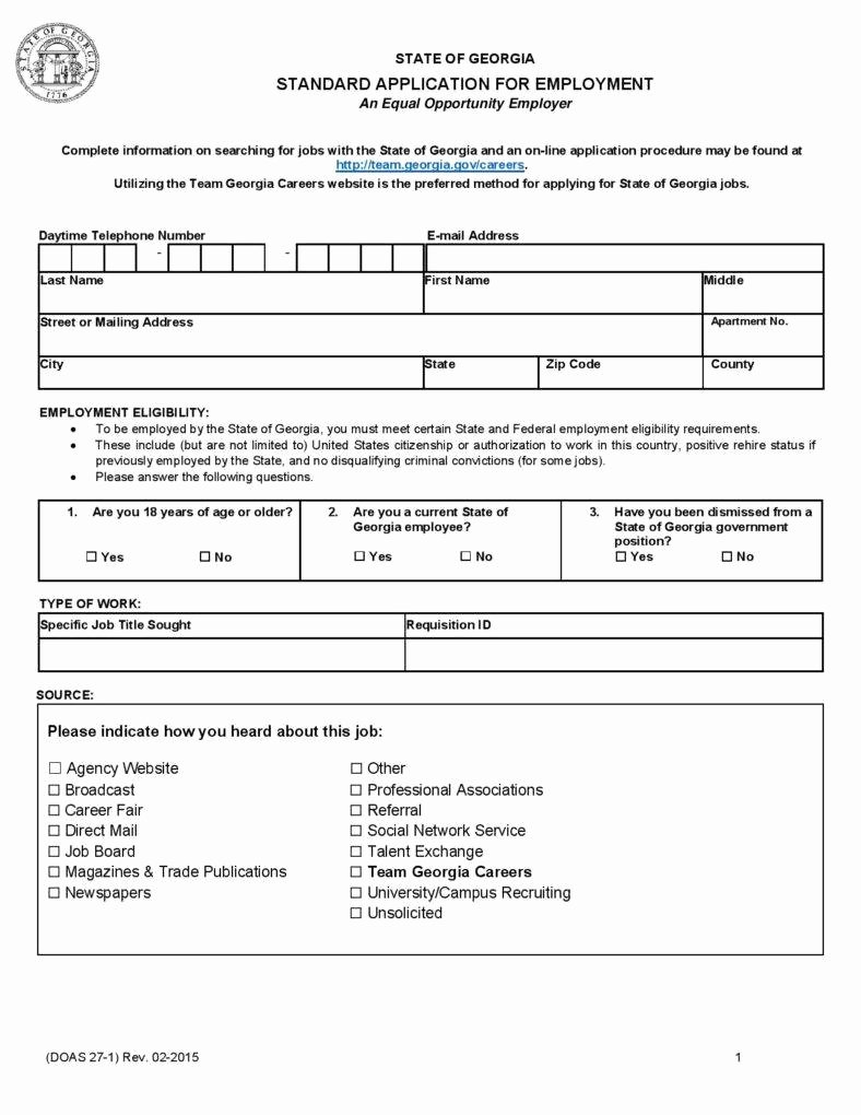 Employment Requisition form Fresh 10 Employment Application form Free Samples Examples