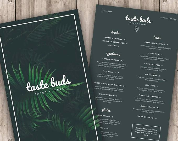 Encore Menu Template Luxury Menu Template Printable Menu Modern Menu Minimalist