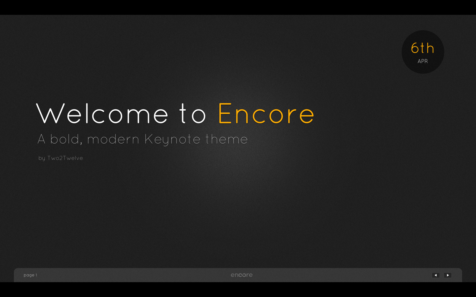 Encore Menu Template Unique Encore Keynote Presentation Template by Two2twelve