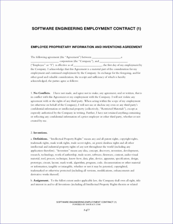 Engineering Contract Template Best Of What You Need to Know About Employment Contracts