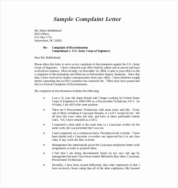 Engineering Contract Template Fresh 14 formal Plaint Letter Templates Pdf Word Google