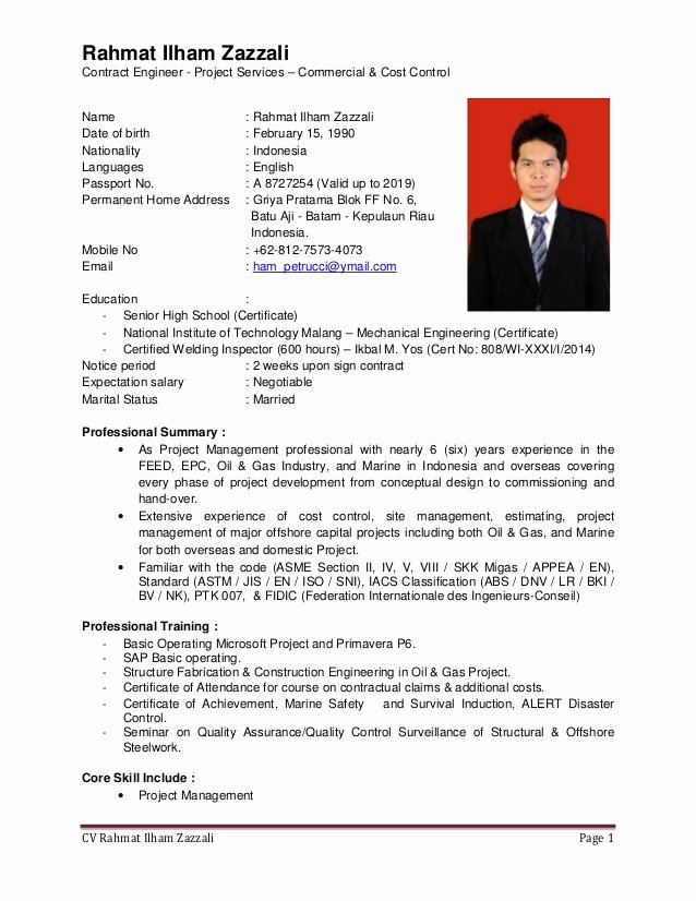 Engineering Contract Template Fresh Cv Ce 0516