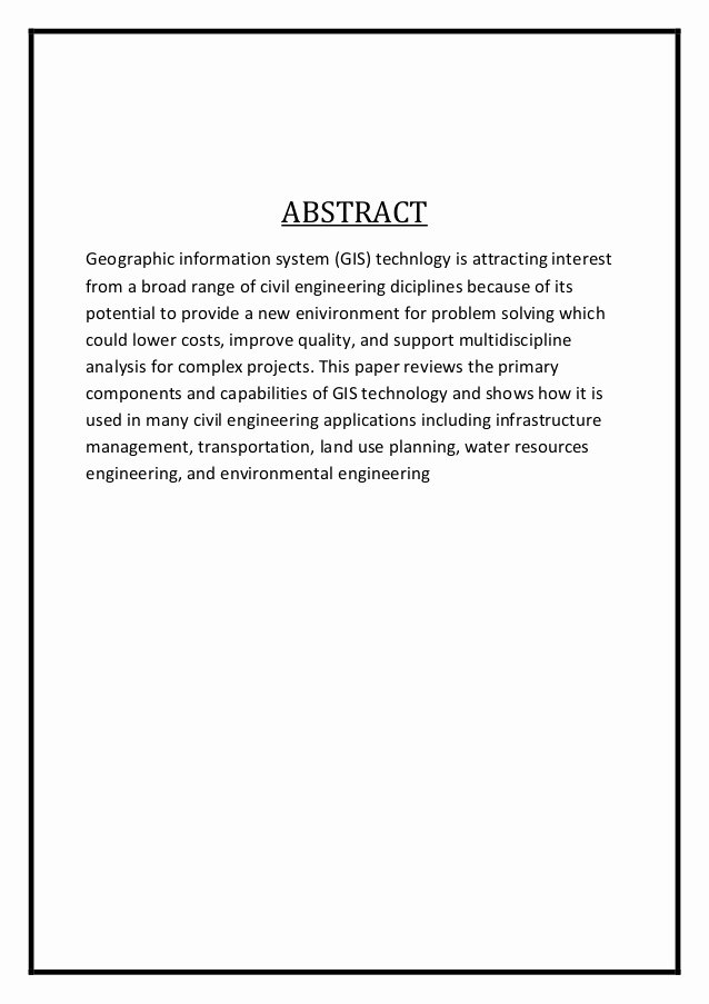 Engineering Report Example Awesome Engineering Report Abstract Example
