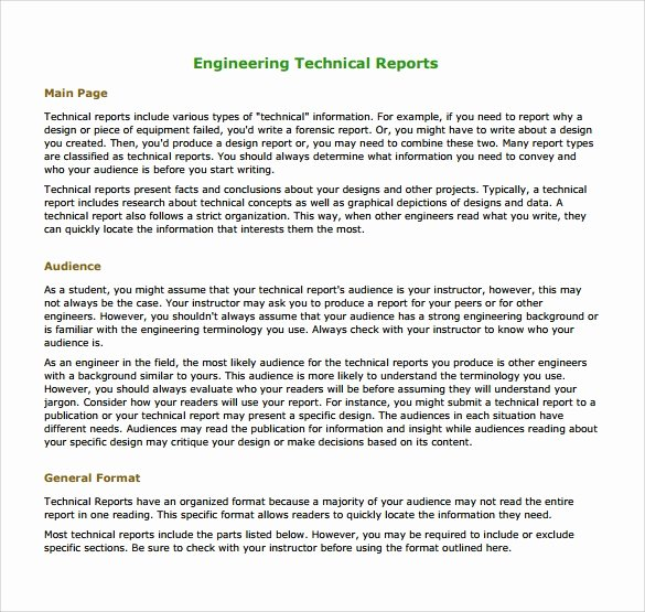 Engineering Report Example New 17 Sample Engineering Reports Pdf Word Pages