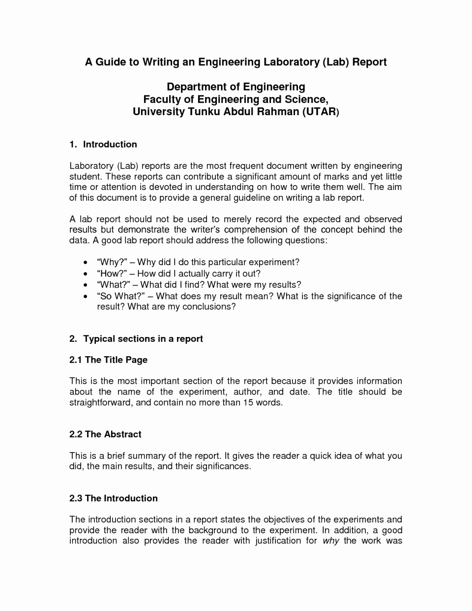 Engineering Report Example New Report Civil Engineering Project format Example Pdf