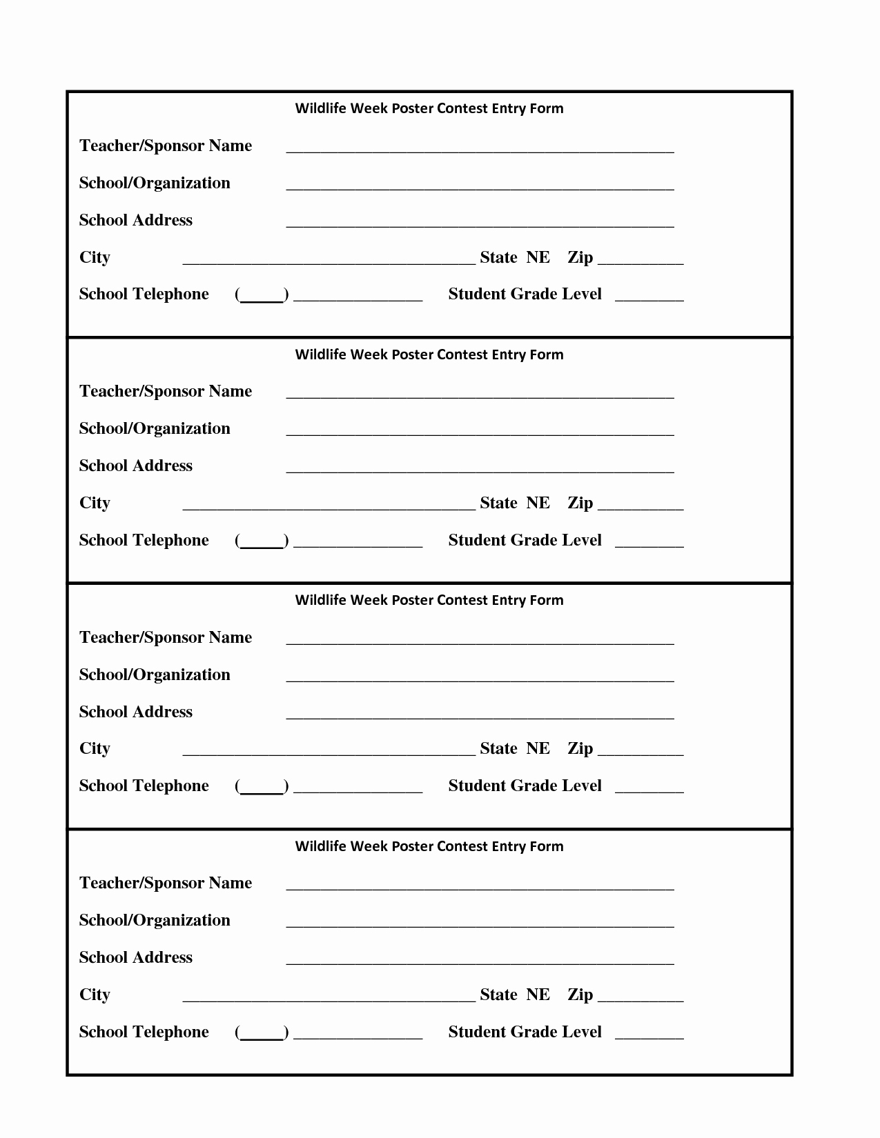 Entry form Template Free Elegant Raffle Entry form Template