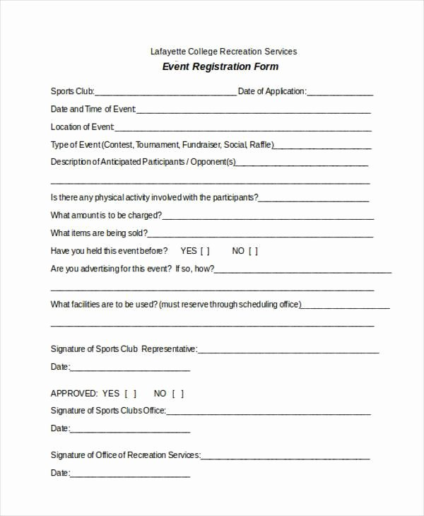 Entry form Template Word Fresh Registration forms Template Free
