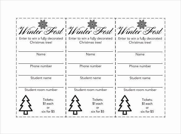 Entry form Template Word Unique Numbered Raffle Ticket Template Word