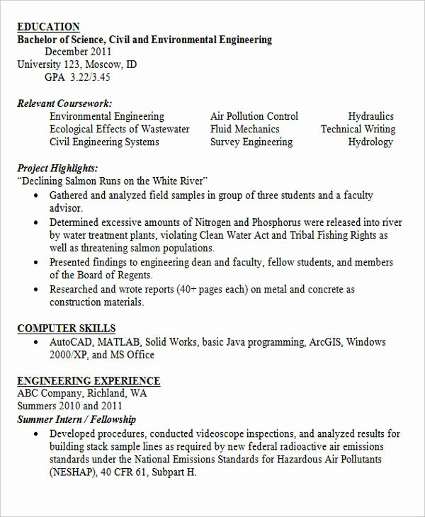 Entry Level Mechanical Engineering Resume Beautiful 30 Modern Engineering Resume Templates