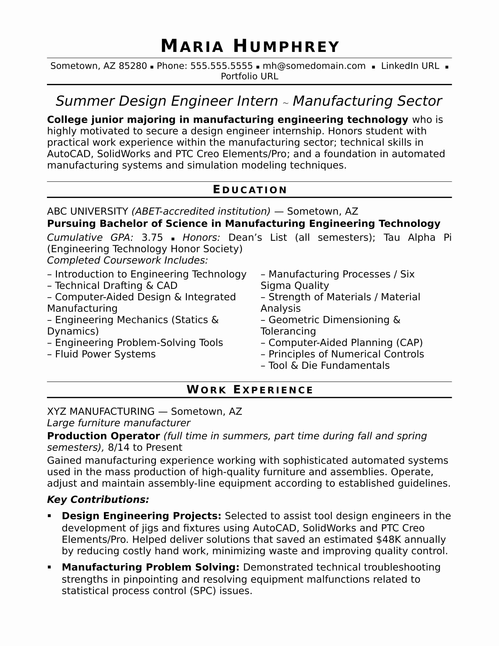 Entry Level Mechanical Engineering Resume Beautiful Sample Resume for An Entry Level Design Engineer
