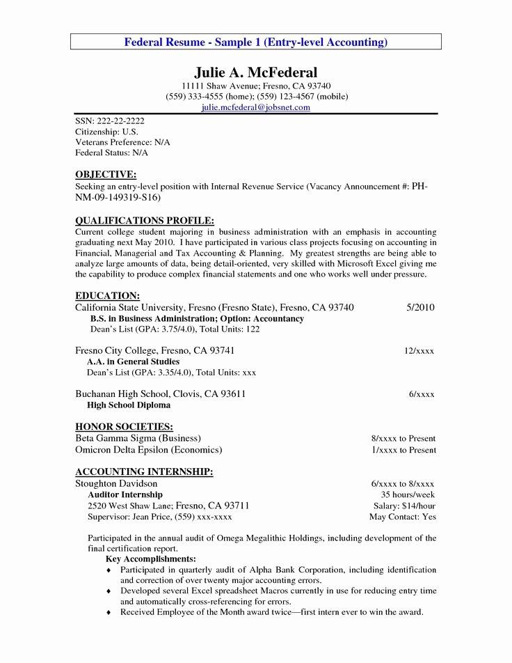Entry Level Web Developer Resume Examples Unique Entry Level Resume Example Entry Level Accounting Resume