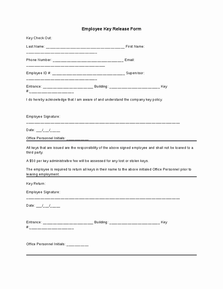Equipment Checkout form Template Awesome 8 Best S Of Key Check Out form Template Equipment