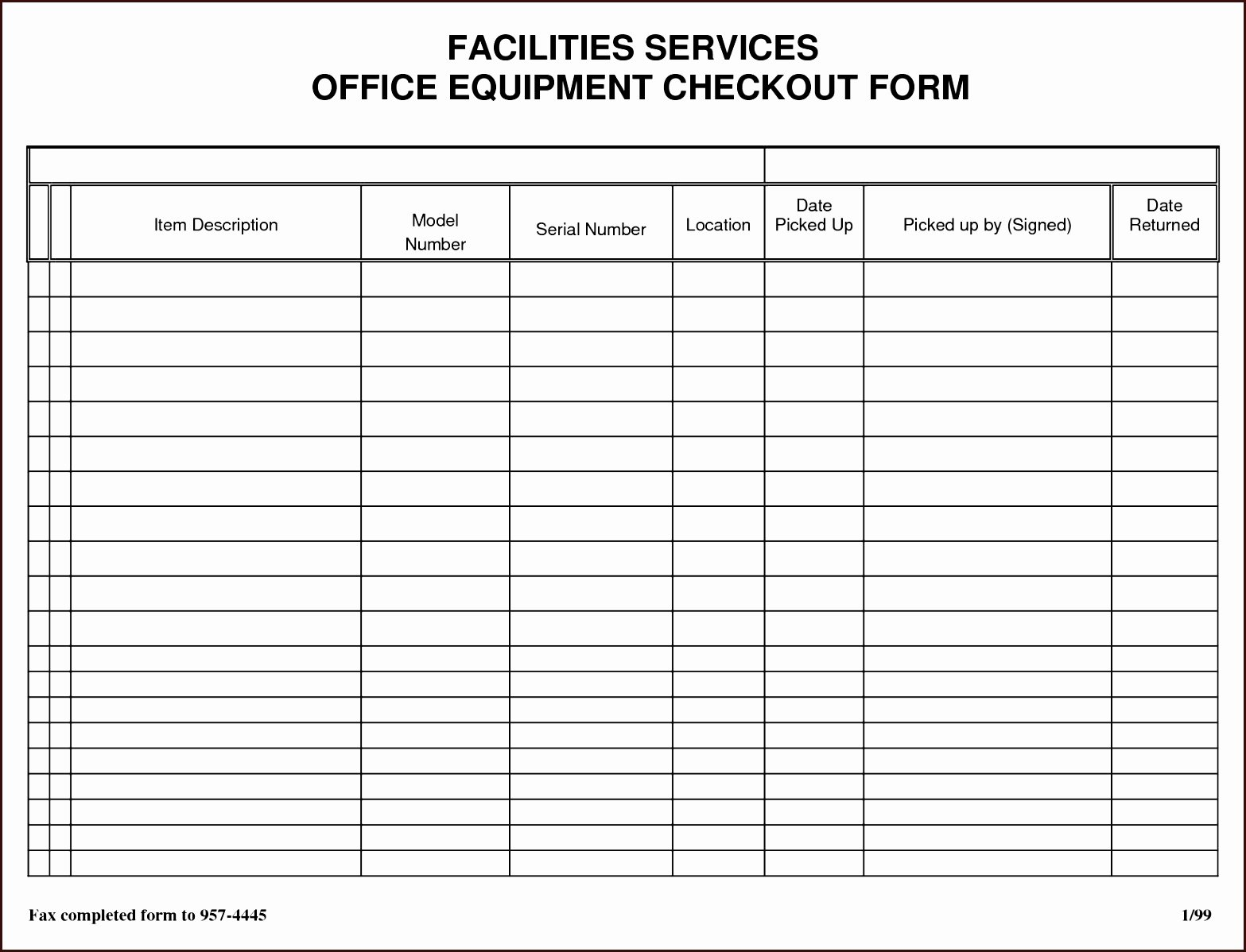 Equipment Checkout form Template Inspirational 11 12 Sign Out Sheet for Classroom