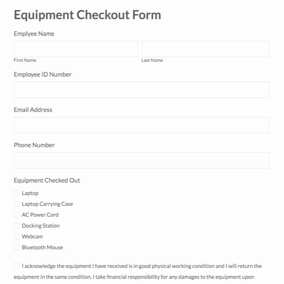 Equipment Checkout form Template Luxury Check Out form Template Romeondinez