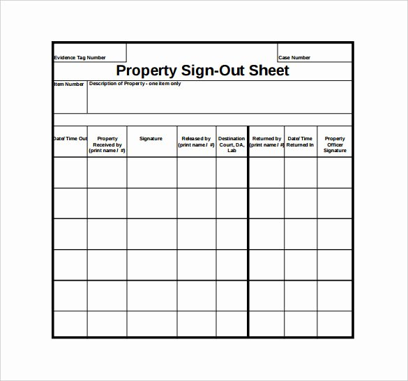 Equipment Checkout form Template New Sign Out Sheet