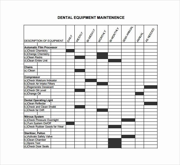 Equipment Maintenance Log Template Excel Fresh Sample Maintenance Log Template 9 Free Documents In Pdf