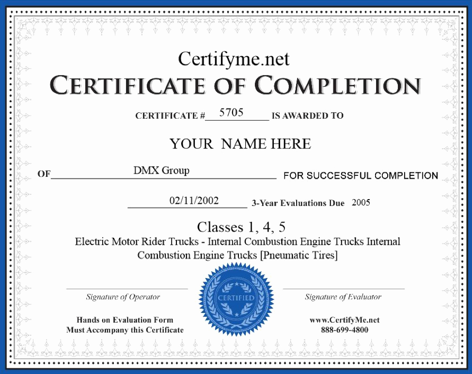 Equipment Operator Certification Card Template Beautiful How to Get forklift Certification Get A forklift License