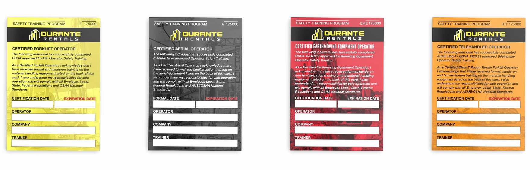 Equipment Operator Certification Card Template Elegant Construction Equipment Training