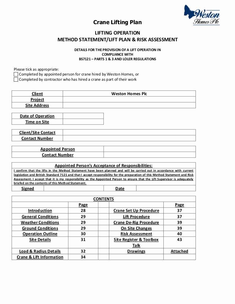 Equipment Operator Certification Card Template Elegant Lifting Plan