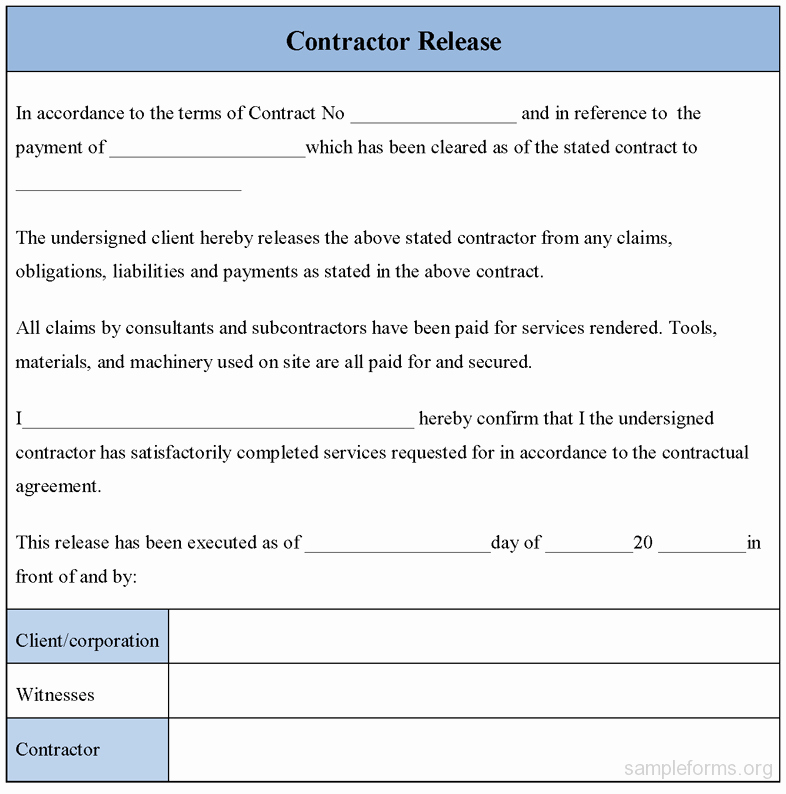 Equipment Release form Best Of Free Printable Liability Release form Sample form Generic