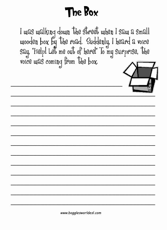 Esl Writing Prompts with Pictures Unique Esl Creative Writing Worksheets Writing